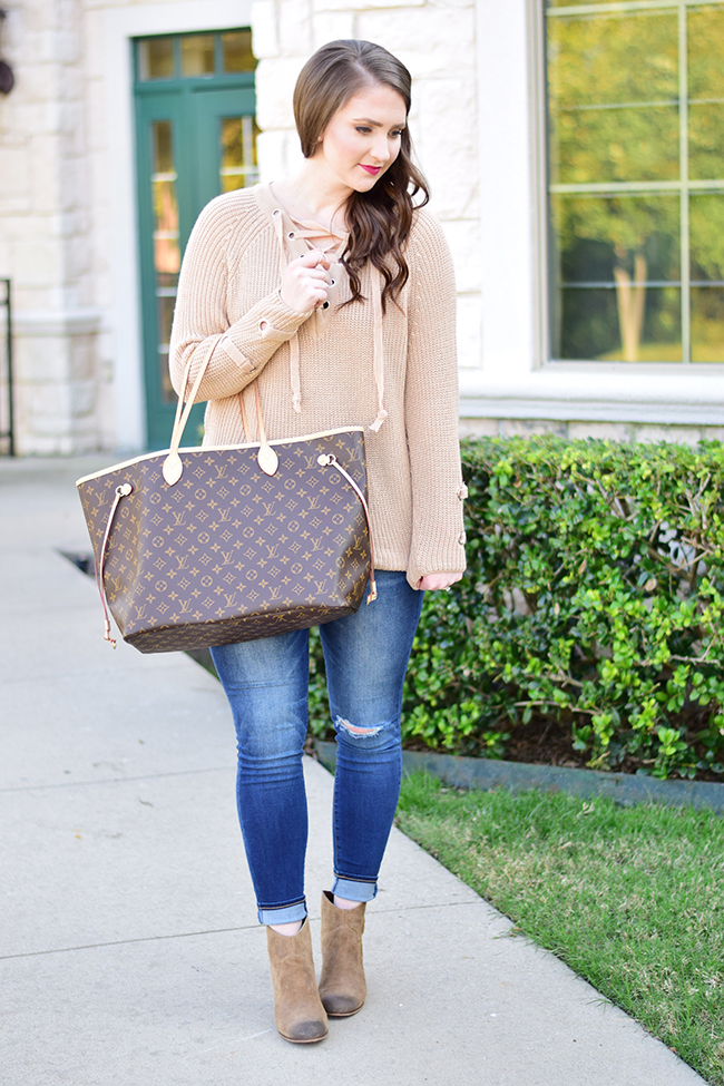 Chicwish Lace-Up Sweater